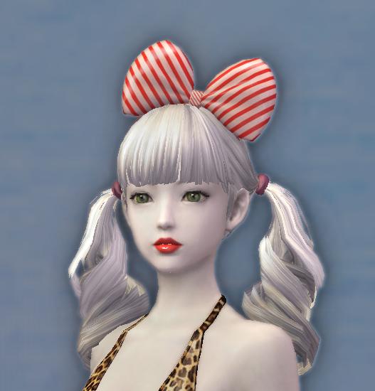 Stripey Hair Bow