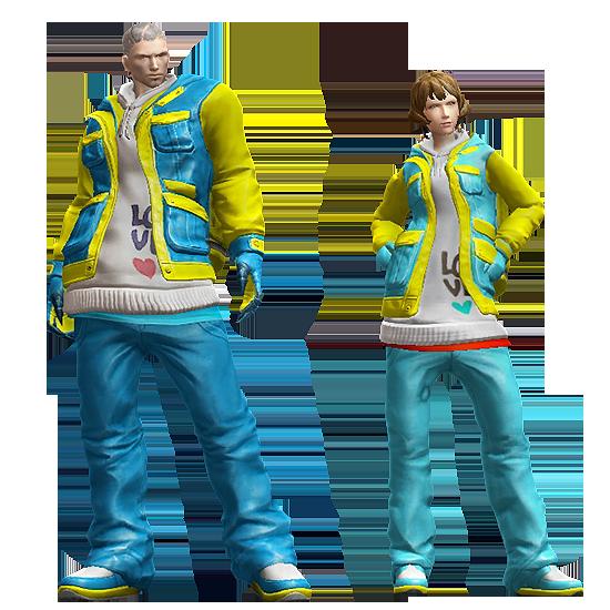 Sky Blue Couple's Slope Suit