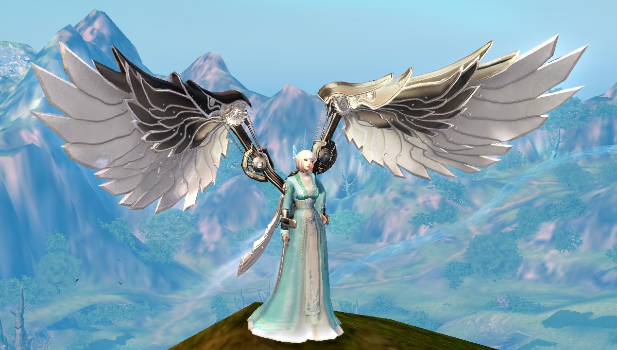 Silvered Steampunk Wings
