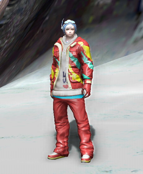Red Couple's Slope Suit