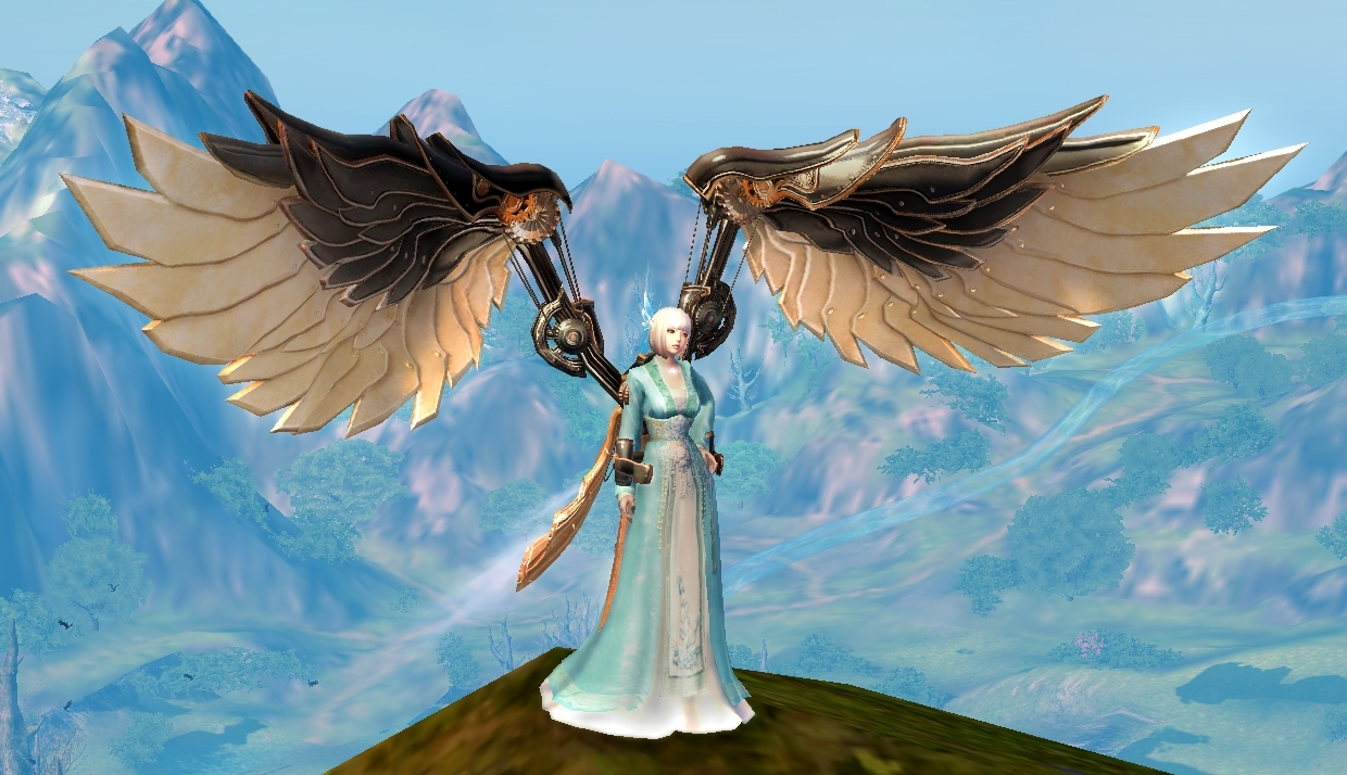 Gilded Steampunk Wings