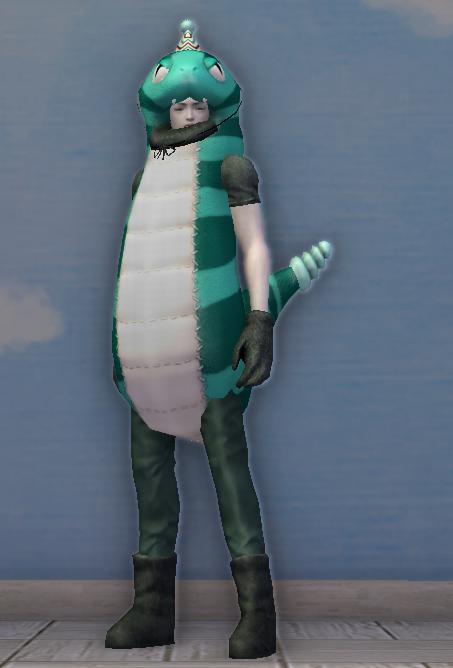 Turquoise Snake Costume